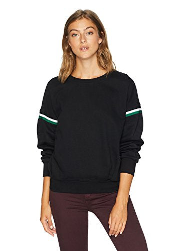 Serene Bohemian Over-Sized Black Sweatshirt with Sporty Tape