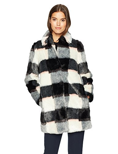 Armani Jeans Eco Fur Checkered Coat