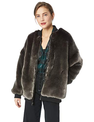 Nicole Miller Luxe Faux Fur Bomber Jacket