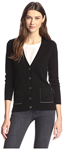 James & Erin Contrast Stitch Cardigan Sweater