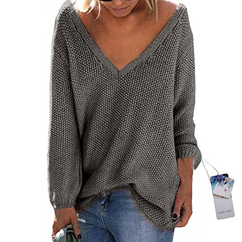 Women's V Neck Oversized Sweater