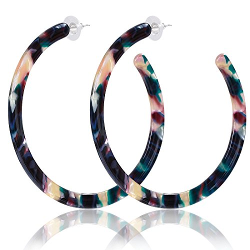 ALEXY Acrylic Resin Hoop Earrings