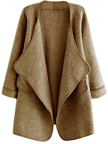 SheIn Open Front Loose Sweater Coat