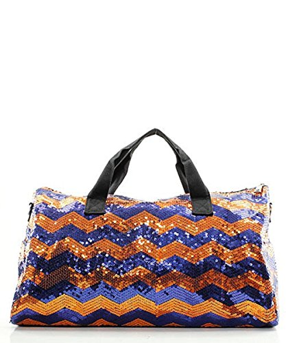 Sequin Chevron Stripe Large Duffel Bag