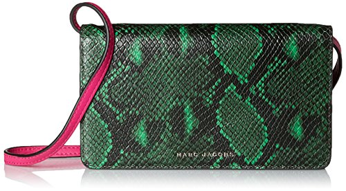Marc Jacobs Block Letter Snake Leather Strap Wallet