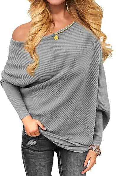 VOIANLIMO Off Shoulder Sweater