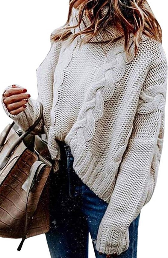 Sweater Turtleneck Crop Top