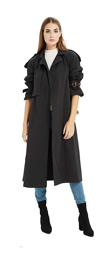 Tronjori Lapel Trench Coat