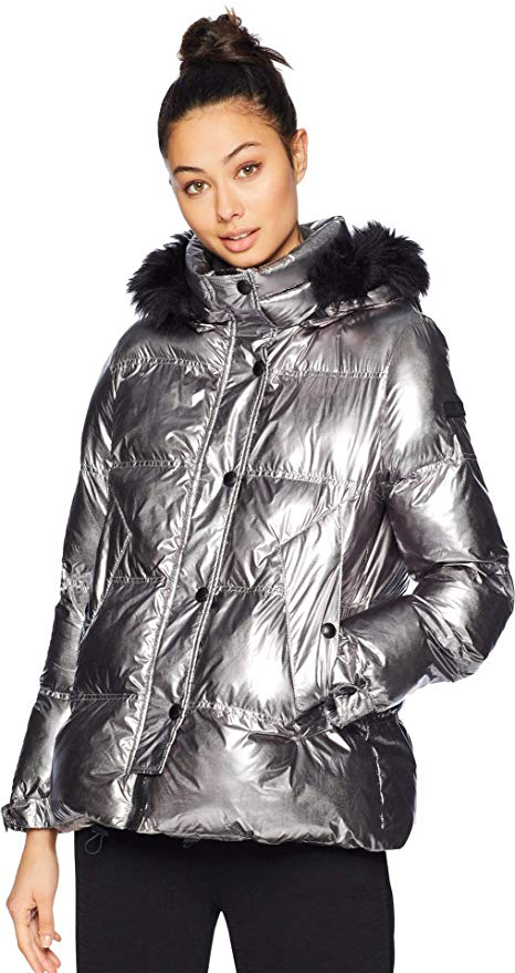 Sam Edelman Metallic Puffer Jacket