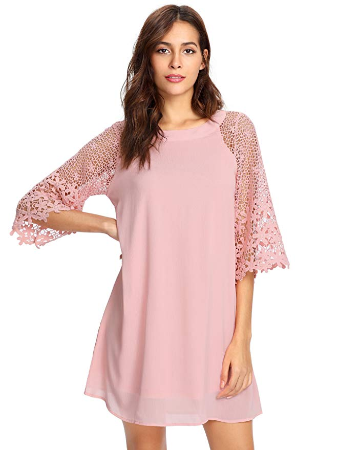 MAKEMECHIC Lace Tunic Dress