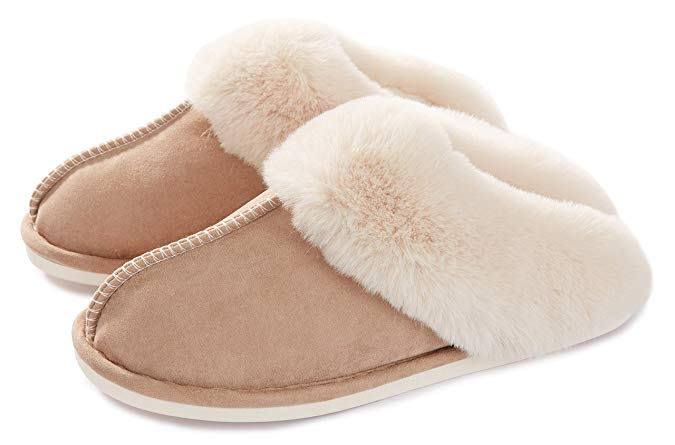 Memory Foam Fluffy Slippers