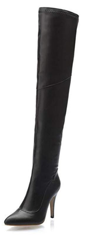Shoe'N Tale Over The Knee Stretchy Leather Boots