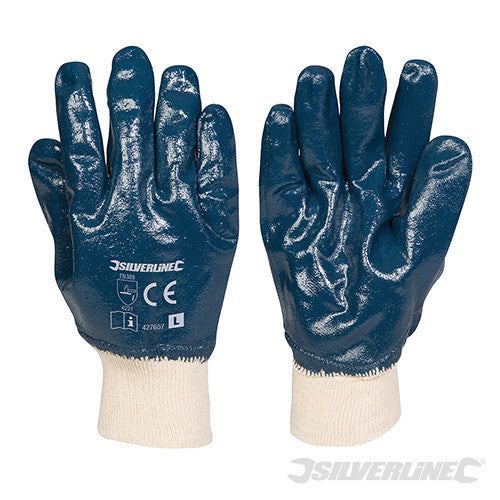 Full Coat Interlock Nitrile Gloves (Large Only)
