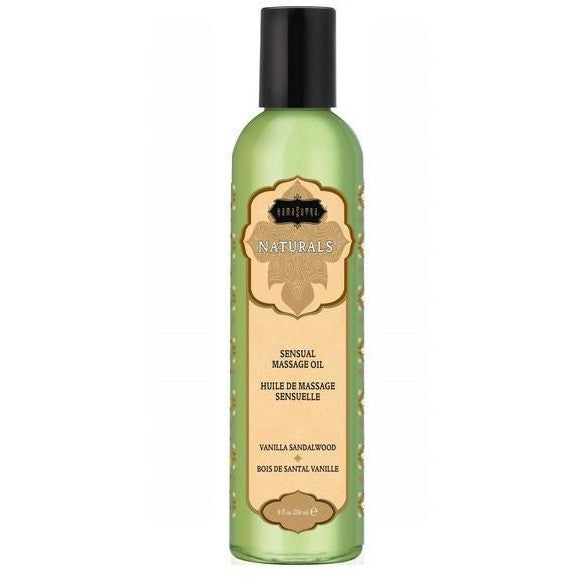 Kama Sutra Naturals Massage Oil 8oz - Vanilla Sandalwood
