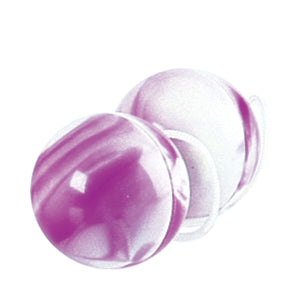 Duotone Orgasm Balls - Purple / White