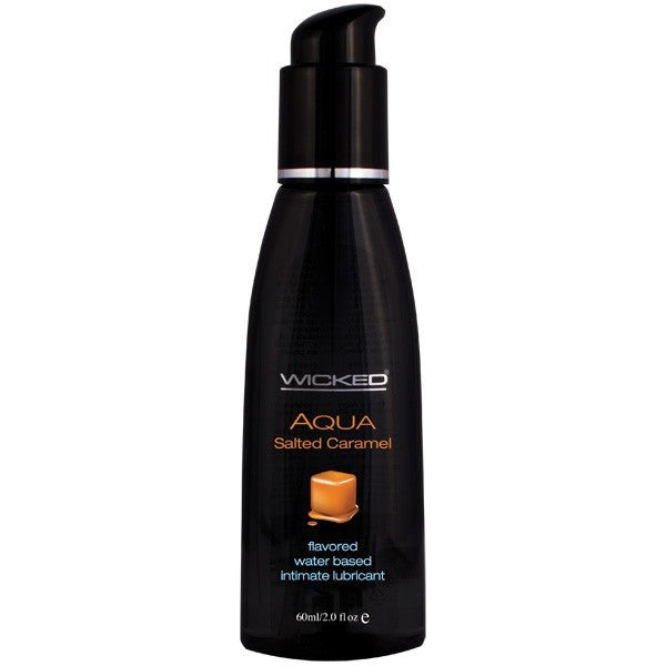 Wicked Aqua Salted Caramel 2oz - Flavored Personal Lubricant