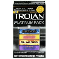 Trojan Platinum Pack Condoms -10 Pack