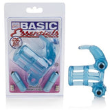 Basic Essentials Double Trouble Vibrating Support System - Blue