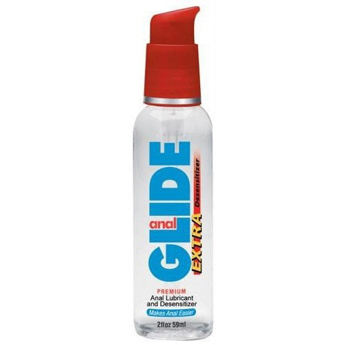 Anal Glide Extra Water-Based 2oz - Desensitizer Personal Lubricant
