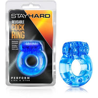 Stay Hard Reusable Cock Ring - Blue