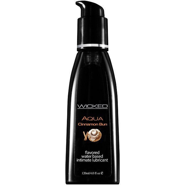 Wicked Aqua Cinnamon Bun 4oz - Flavored Personal Lubricant