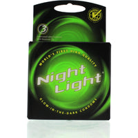 Night Light Lubricated Condoms - 3 Pack