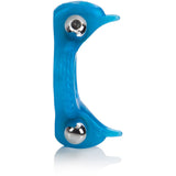Double Dolphin Blue - Male Vibrating Cock Ring