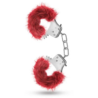Temptasia Plush Fur Cuffs - Burgundy