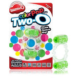 Color Pop Quickie Two-O Green - Double Pleasure Disposable Penis Ring