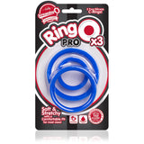 RingO Pro 3 Pack Blue - Male Cock Ring Set