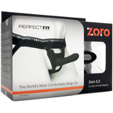 "Perfect Fit Zoro 5.5"" Hollow Strap-on - Black"