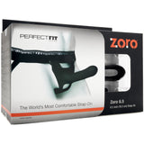 "Perfect Fit Zoro 6.5"" Hollow Strap-On - Black"