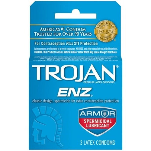 Trojan Enz Armor Spermicidal Lubricated Condoms - 3 Pack TJ93150