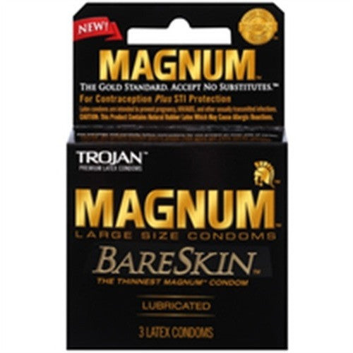 Trojan Magnum Bareskin Large Size Condoms 3 Pack PM22888