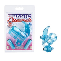Basic Essentials Double Trouble Vibrating Support System - Blue SE1739122