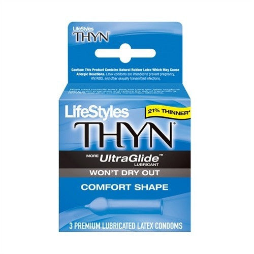 Lifestyles Thyn Lubricated Condoms - 3 Pack LS9103