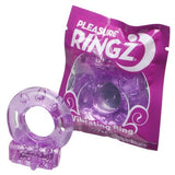 Vibrating Pleasure Ringz - Purple PD2365-12
