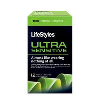 Lifestyles Ultra Sensitive Lubricated Condoms - 12 Pack LS1712