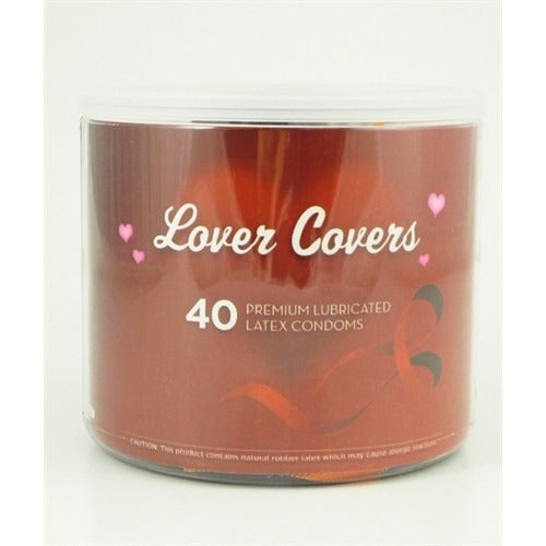Lovers Covers Mix Condoms - 40 Count Jar PMLC40D