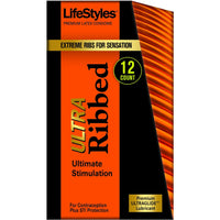 Lifestyles Ultra Ribbed - 12 Pack LS0937