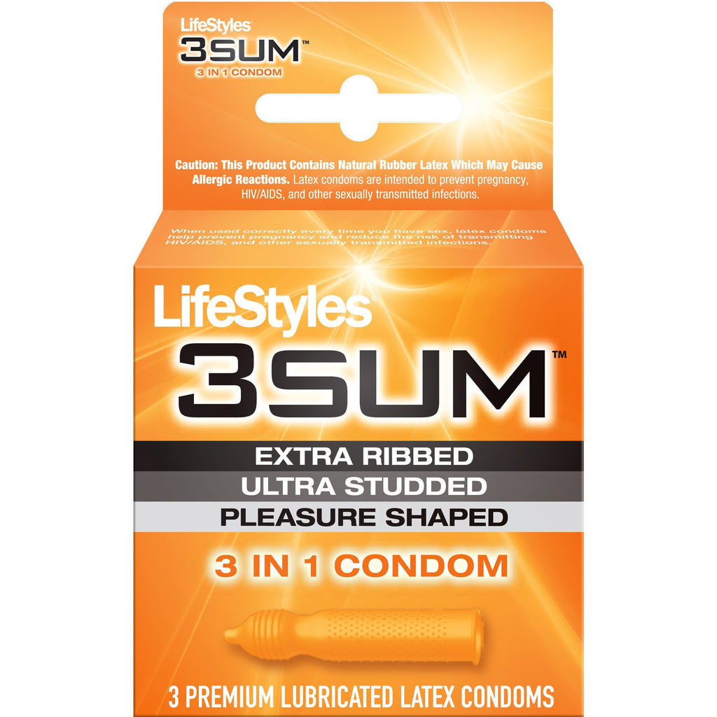 Lifestyles 3 Sum - 3 Pack Condoms LS7803