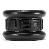 Neo 1.25 Inch Short Ball Stretcher Squishy Silicone - Smoke Black OX-1258-BLK