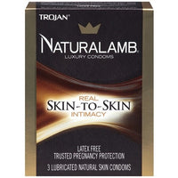 Trojan Naturalamb Lubricated Condoms - 3 Pack TJ98050