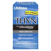 Lifestyles Thyn Lubricated Condoms - 12 Pack LS29112