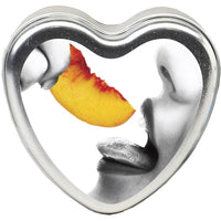 Peach Edible Candle Heart - 4.7 Oz. EB-HSCK006