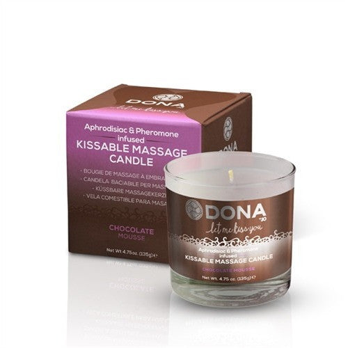 Dona Kissable Massage Candle - Chocolate Mousse - 4.75 Oz. JO40566