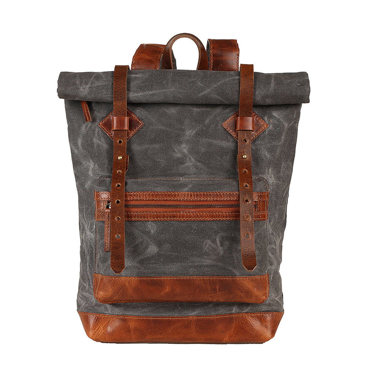 canvas backpack, wax canvas backpack, roll top backpack, man leather backpack, hike backpack, adventure backpack, canvas backpack man United States
