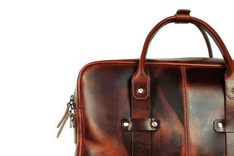 Boston Briefcase (Tobacco Tan)