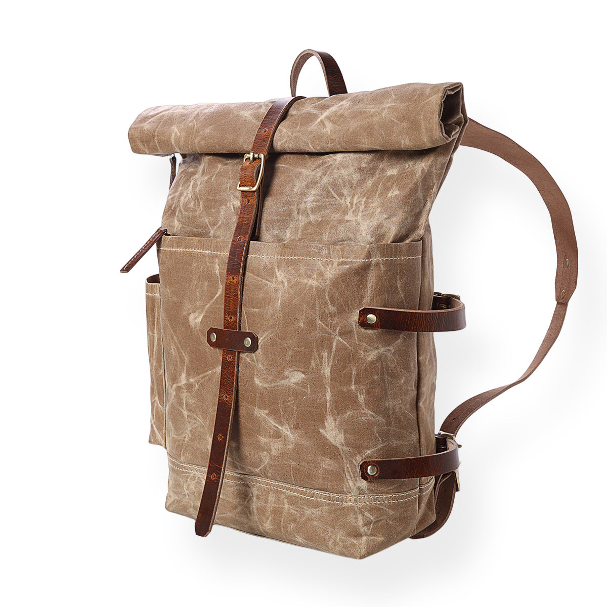 waxed canvas backpack,laptop backpack,waxed canvas leather bag,roll top travel backpack,rugged backpack,rucksack,canvas backpack,leather bag United States