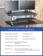 Attollo Desk Dimensions